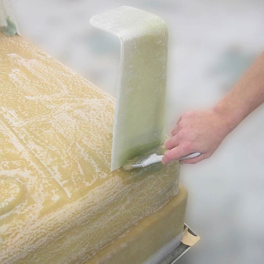 Réparation d'un bac en polyester