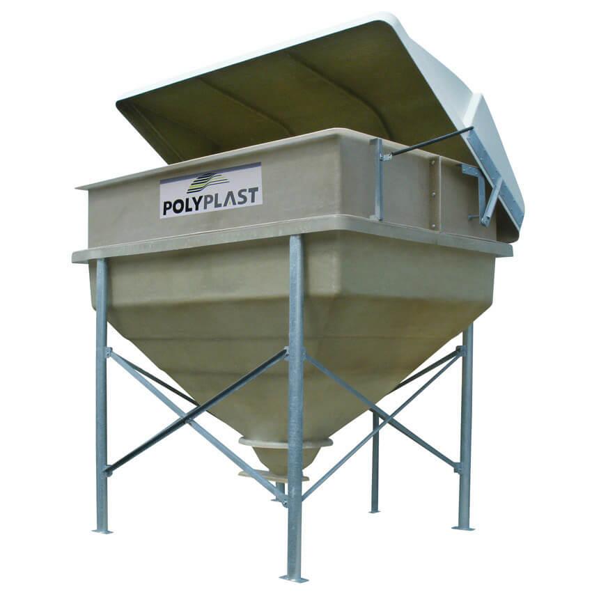 Trémie agricole Polyvrac 10 m³