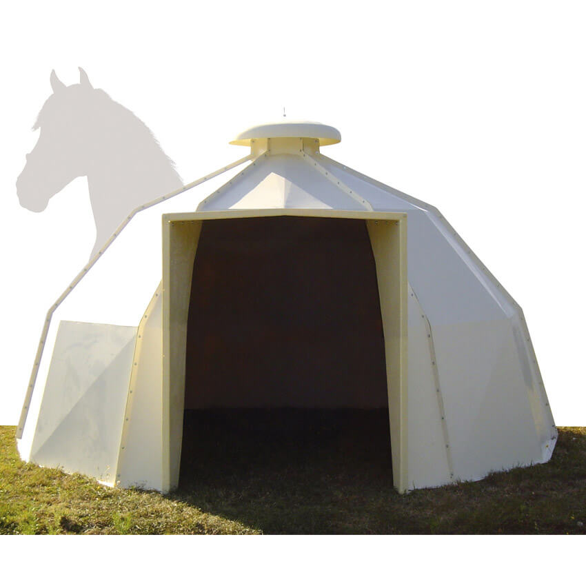 Abri à chevaux mobile